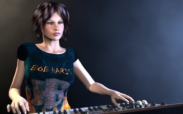 music, hd, 3d girl, 3d gir