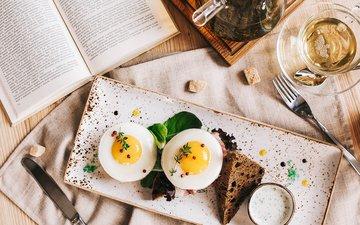 food, bread, tea, breakfast, 1, egg, sauce, toast