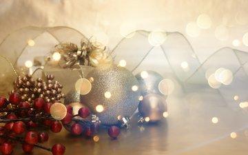 новый год, подарки, игрушки, лента, праздник, новогодние украшения, декор, елочная