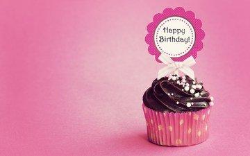 cake, cupcake, happy birthday