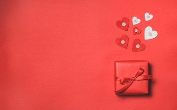 лента, подарок, сердечки, valentines day, влюбленная, сердечка