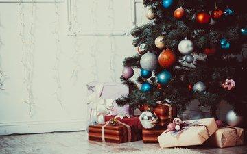 новый год, елка, подарки, рождество, елочные украшения