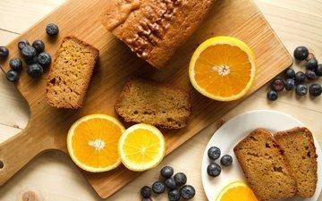 food, orange, cakes, cupcake, blueberries