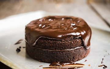 dessert, cake, 4, chocolate, chocolate glaze, cream