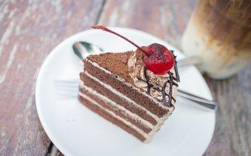 decoration, dessert, cake, 29, chocolate, cream, piece of cake