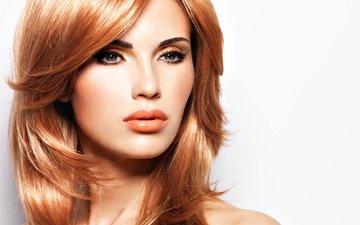 девушка, портрет, взгляд, модель, лицо, макияж, прическа, длинные волосы, рыжеволосая, рыжие волосы, valua vitaly