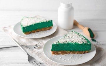 green, cake, dessert, 5, cheesecake