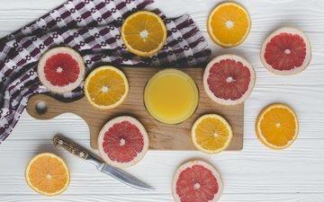 drink, orange, slices, grapefruit, juice, fresh