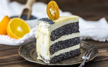 mac, orange, cake, cream