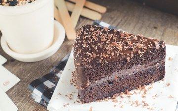 dessert, 2, cake, chocolate, cream