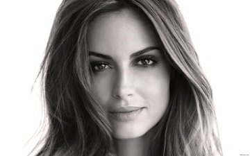 girl, portrait, look, black and white, hair, lips, face, ariadne artiles, ariadna abraham