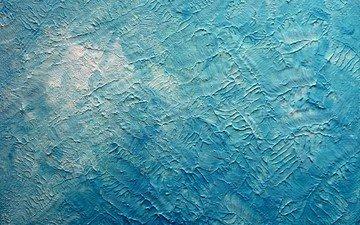 текстура, фон, цвет, голубой, краска, штукатурка