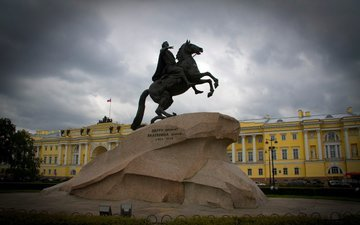 russia, saint petersburg, monument, the bronze horseman