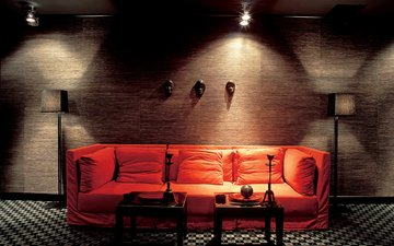 style, interior, lamp, room, sofa