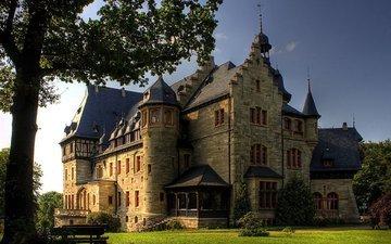 castle, germany, eisenach, villa pflugensberg