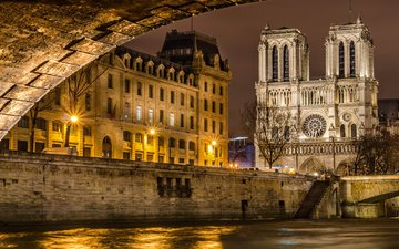 собор, париж, франция, собор парижской богоматери, в, нотр-дам де пари, франци, парижской, богоматери, париже