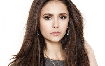 girl, portrait, look, hair, face, actress, nina dobrev, celebrity