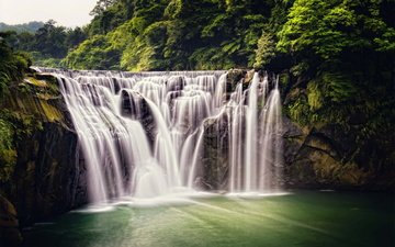 nature, forest, waterfall, taiwan, jungle, shifen waterfall