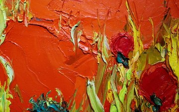 abstraction, texture, color, paint, strokes, oil paint, oil