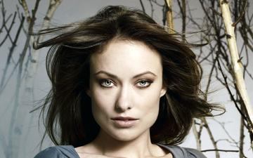 girl, portrait, look, hair, lips, face, actress, olivia wilde