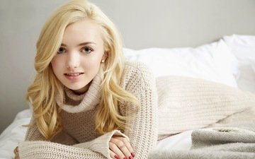 girl, blonde, look, model, hair, face, actress, sweater, peyton list, peyton sheet