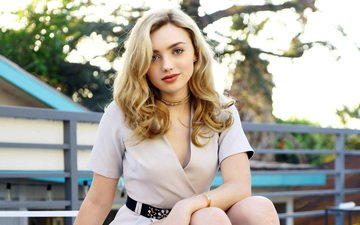 girl, dress, blonde, look, model, hair, face, actress, peyton list, peyton sheet