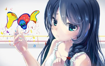 anime, magic, witchcraft, anime girl, original, play with colors