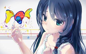аниме, магия, колдовство, аниме девочка, оригинальная, play with colors