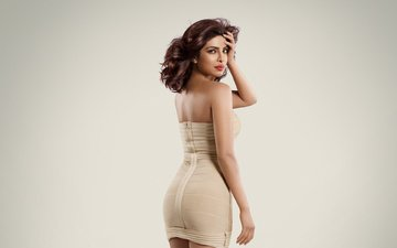 девушка, взгляд, модель, волосы, лицо, актриса, индийская, приянка чопра, фугура
