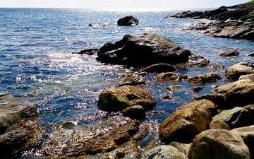 скалы, камни, берег, море, побережье