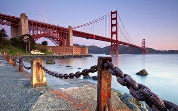 мост, сша, сан-франциско, калифорния, золотые ворота