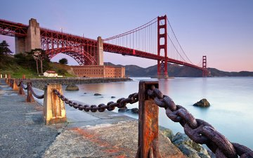 bridge, usa, san francisco, ca, golden gate