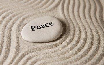камни, песок, покой, песка, дзен, каменное
