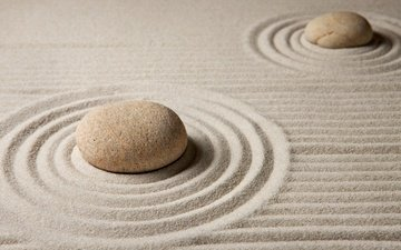 камни, песок, песка, дзен, каменное