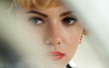 девушка, портрет, взгляд, модель, губы, лицо, актриса, скарлет йохансон