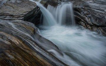 скалы, камни, ручей, поток