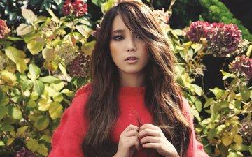девушка, музыка, взгляд, волосы, лицо, азиатка, южная корея, lee ji eun, kpop