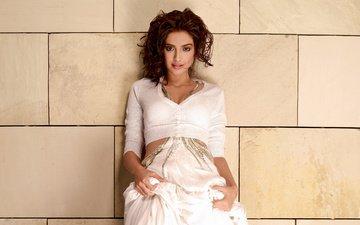 девушка, взгляд, волосы, лицо, актриса, индийская, сонам капур