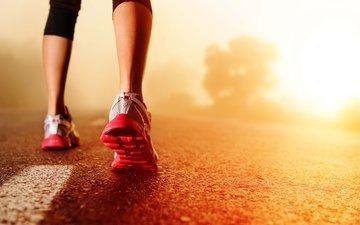 feet, sport, running, sneakers, workout