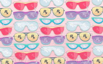 art, background, color, glasses, rockstar
