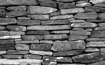 stones, background, wall, black and white, stone