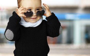 дети, улица, ребенок, мальчик, солнечные очки, пацан