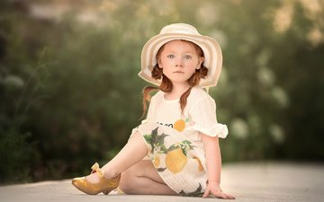 dress, children, girl, child, shoes, hat, ellen tolman, sue ellen tolman