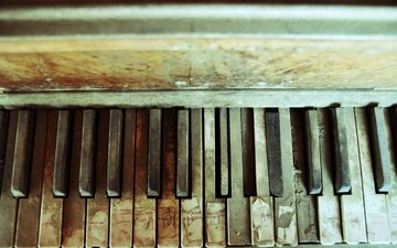 dust, piano, keys, musical instrument