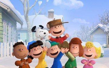 собака, дети, the peanuts, the peanuts movie, charlie brown, снупи и мелочь пузатая