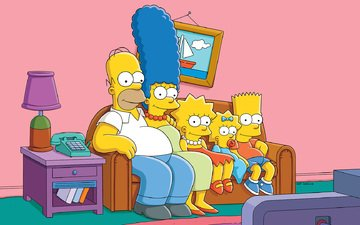 sofa, the simpsons