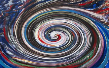 art, abstraction, color, form, paint, spiral, tornado