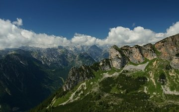 the sky, clouds, mountains, rocks, nature, landscape, austria, tyrol