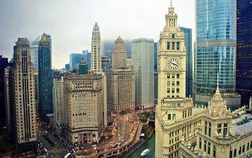 небоскребы, сша, здания, чикаго, иллиноис