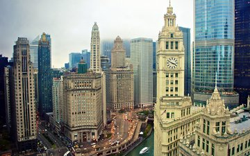 skyscrapers, usa, building, chicago, illinois